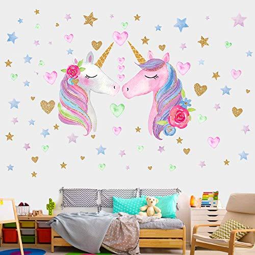 AIYANG - Adhesivo Decorativo para Pared, diseño de Unicornio