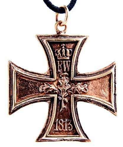 Kiss of Leather EK Kreuz 1813/1914 Anhänger aus Bronze mit Baumwollband