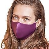 IDentity LNGR Mascarillas de seda con alambre de nariz satinado Reino Unido, máscara facial lavable ...