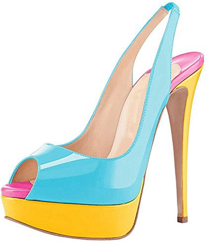 Ladies Sandal bluee Peep Toe Women Summer Thin High Heel Fashion shoes Party Heeled Sandals