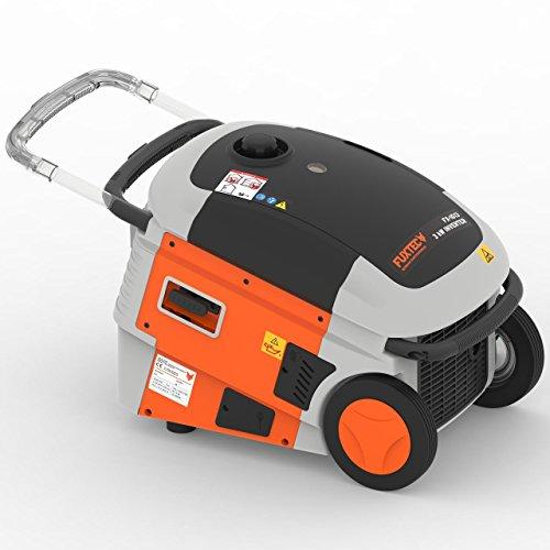Fuxtec Inverter FX-IG13 Wechselrichter Benzin Stromerzeuger 3000 Watt max. Leistung 6h Laufleistung, 10 Liter Tank,4-Takt Motor - 2X 230V Anschluss geeignet für Ladegeräte,Laptops,Smartphones,Tablets