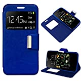 iGlobalmarket LG K5, Funda con Tapa, Apertura Lateral Tipo Libro, Cuero PU, Color Azul