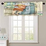 Cortina de cocina YUAZHOQI divertida a regordeta mujer abrazando la nevera con passion St 1 panel de 106,7 x 45,7 cm cortina opaca aislante térmica