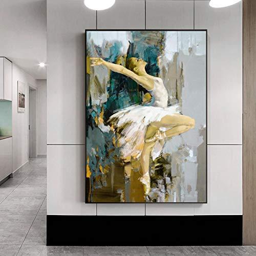 LYHNB (Obra de Arte Giclee) Cuadro de niña Bailarina Arte de la Pared Pintura en Lienzo Póster de...