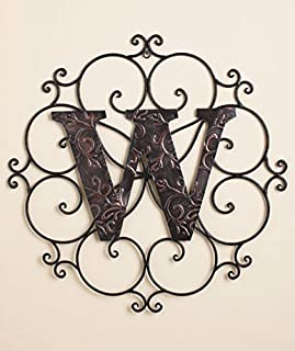 Personalized Metal Embossed Monogram Wall Hanging (W)
