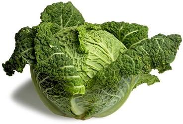 Organic Savoy Cabbage, One Head