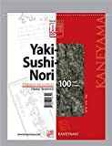 Kaneyama Yaki Sushi Nori/Dried Seaweed, Vacuum Packed/Re-Sealable, Premium Gold Grade, Half, 100 Sheets