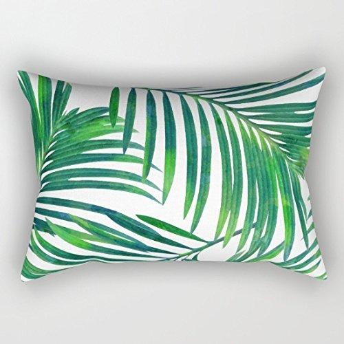 Tropical hojas rectangular fundas de almohada decorativo fundas de cojín Accent almohadas funda de 12 x 20 para sofá Regalos de inauguración de la ...