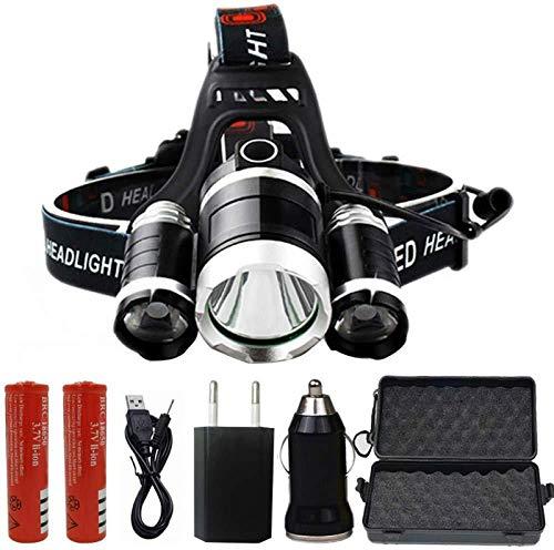 LED Phare Phare 8000 Lumens Puces 3X XML T6 Super Lumineux LED Lampe De Poche Lampe De Poche