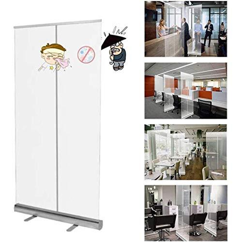 YUMUO Protector de estornudos para el piso, pancarta de tiradas completa transparente de PVC protector de pantalla, barrera de aislamiento de higiene para gimnasio, salón, peluquería, bar, restaurante