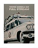 1art1 Ghostbusters - Ectomobil, Ecto 1 Poster Kunstdruck 50