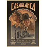 JQQBL Plakat Casablanca Filmplakat Old Hollywood Classic