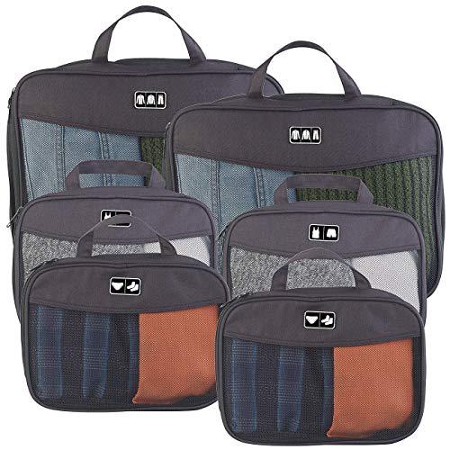Semptec Urban Survival Technology Packbeutel: 6-teiliges Kompressions-Kleidertaschen-Set füs Reisegepäck, 2 Größen (Reise-Organizer Koffer)