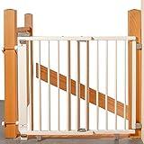 Geuther - Treppenschutzgitter ausziehbar 2733+, für Kinder/Hunde, Schrauben/Klemmen am Geländer,...