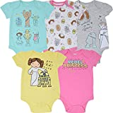 Star Wars Baby Girls 5 Pack Bodysuits Princess Leia Yoda Chewbacca 0-3 Months