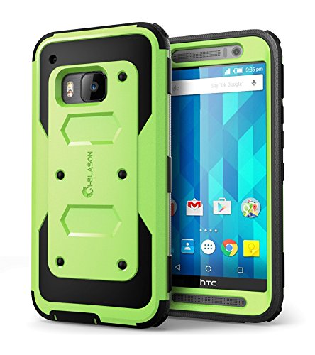 HTC One M9 Case, Armorbox i-Blason HTC One Hima M9 built in Screen Protector Full body Heavy Duty Protection Shock Reduction Bumper Corner (Green)