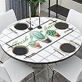 LIUJIU El mantel de vinilo El mantel de PVC se puede limpiar en interiores y exteriores, picnics, barbacoas y fundas de mesa, 60 cm