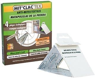 Protecta MIT'CLAC Tex - Trampa de Polilla de la Ropa, Juego de 4
