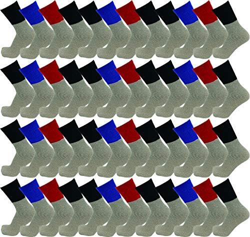 48 Pairs Thermal Socks for Men Women, Bulk Heat Retainer Cold Winter Boot Tube Sock (48 Pairs Assorted, Mens 10-13 (Shoe size 7-12))