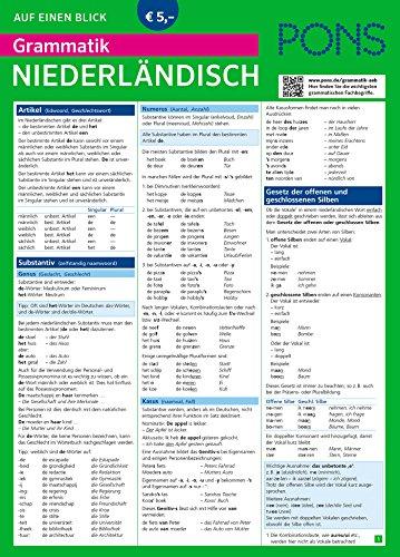PONS Grammatik auf einen Blick Niederländisch (PONS Auf einen Blick)