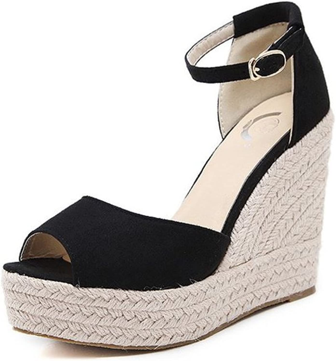 Womens Wedge Sandals Slip On Ankle Beach shoes Dressy Sandals