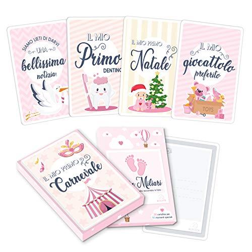 Milestone Baby Cards Italiano - Le Carte dei Momenti Importanti - Photo Bebè Moments Regali Neonati Pietre Miliari Bambini