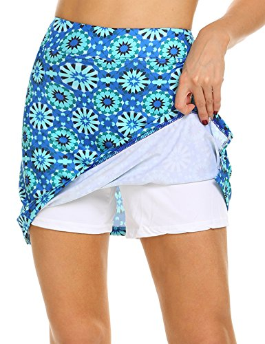 MAXMODA Damen Sportskort Tennis/Hockey/Golf Sport Rock/Skort Mit Shorts/Tasche/Kopfhöreranschluss, Dehnbar Laufenrock, Winddicht mit viel Farbe