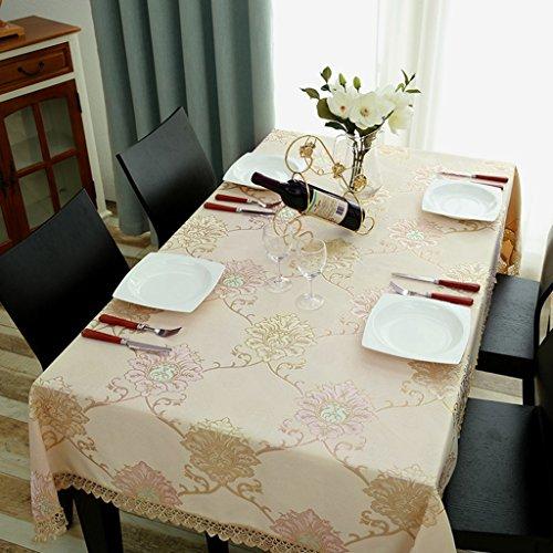 Nappe européenne Nappe rectangulaire Nappes européennes Tissu Restaurant Salon Table à manger Table basse Dentelle Nappes en dentelle (taille : 140 * 220cm)
