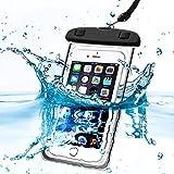 Bolso seco de la bolsa de la caja del teléfono móvil del teléfono móvil del pasaporte del dinero sellado impermeable impermeable IPX8 con el acollador elástico largo para Motorola Moto X4