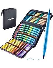 Ohuhu アートマーカーペン 36色 筆先 水彩ペン 水性 ふでタイプ ふで・極細 ブラッシュ 鮮やか イラスト 手帳 絵手紙 色塗り 塗り絵 カード 収納ケース付き