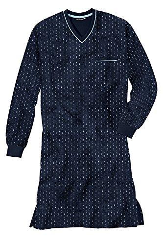 Götzburg Orson Herren Nachthemd Schlafshirt Sleepshirt 60 / 4XL Navy (8414)