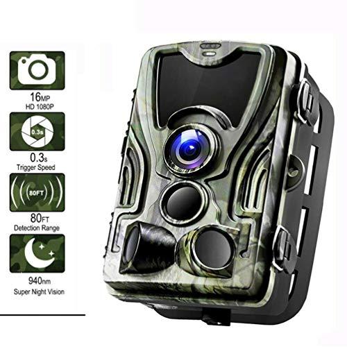 DANQI Wildlife Überwachungskamera, IP65 Wasserdichte Jagd-Trail-Kamera, 0,3 s Auslösezeit 940 nm Wildkamera 1080P HD Kamera, 120 Grad Winkel Wildkamera