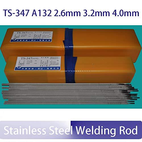 Kamas TS-347 A132 - Caña de soldadura (1 kg, acero inoxidable, 2,6 mm, 3,2 mm, 4 mm)