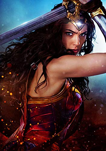 72Tdfc Carteles De La Película Wonder Woman 3D Puzzles 1000 Piezas Adultos Rompecabezas De Madera Pintura Al Óleo Abstracta Animación Que Niños Y Adolescentes Aprendan Juguetes Educativos
