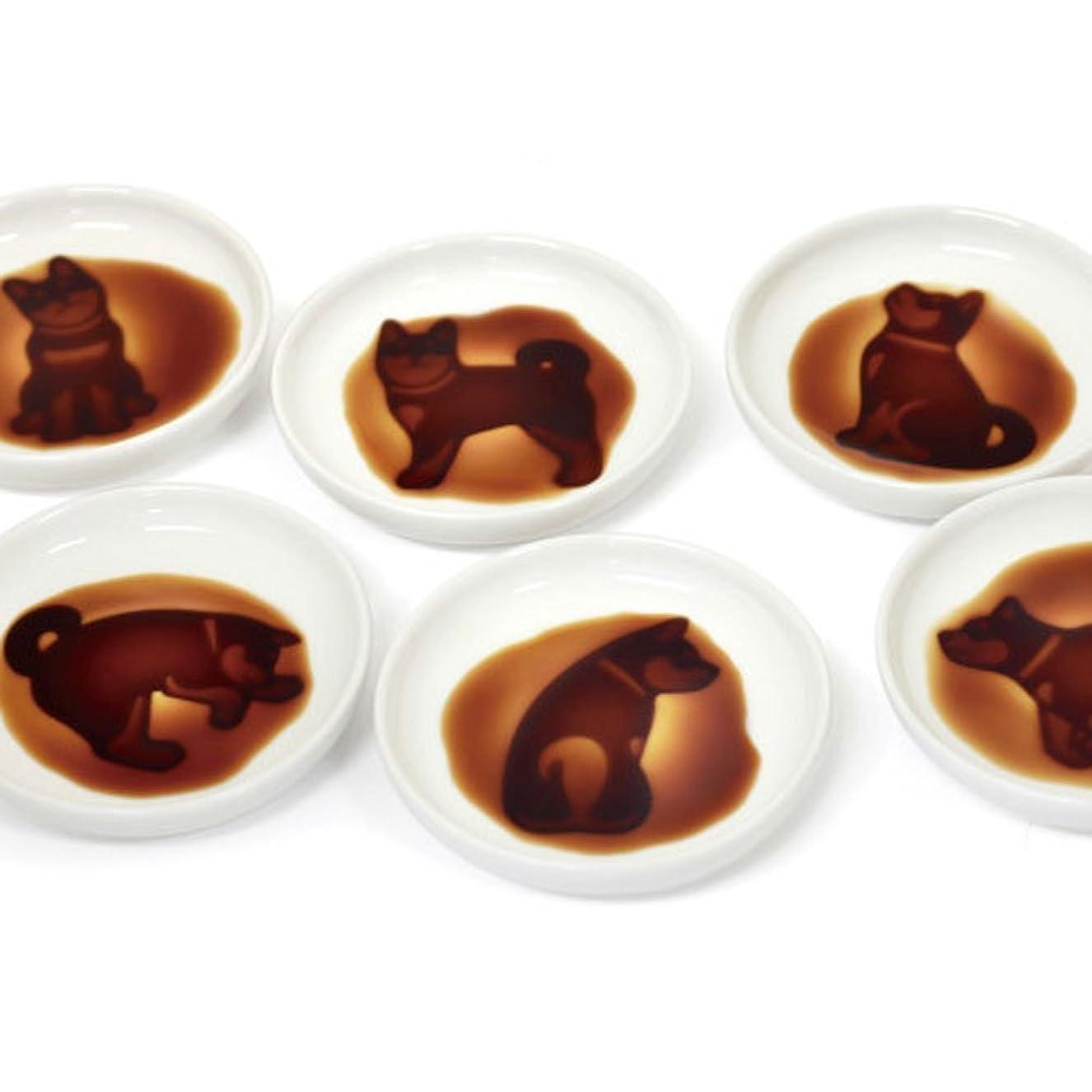 マラドロイトフィドルコンテンツイヌ グッズ 醤油皿 小皿 犬雑貨 6種類セット