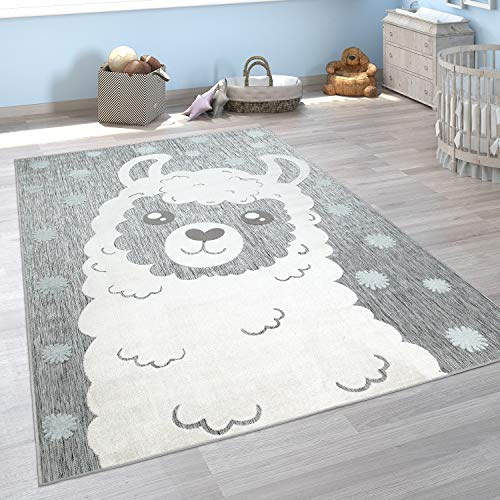 Paco Home Alfombra Infantil Habitación Infantil Exterior Juego Motivos Animales 3D, tamaño:160x220 cm, Color:Gris 2