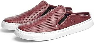 Sapato Mule Masculino Couro Furadinho Com Elástico Moderno