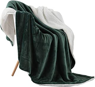NANPIPER Throw Blanket Reversible Sherpa Flannel Blanket Super Soft Fuzzy Plush Fleece Microfiber for Bed/Couch(60