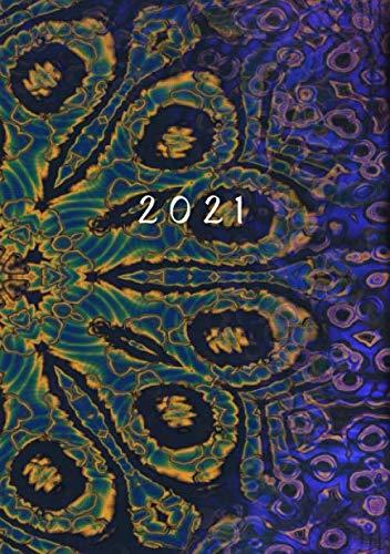 2021: Agenda Settimanale   Formato A5 Tascabile   1 Settimana Su 2 Pagine   12 Mesi Planner   Design Semplice   Diario Caledario Appuntamenti Agenda Giornaliera   Mistico