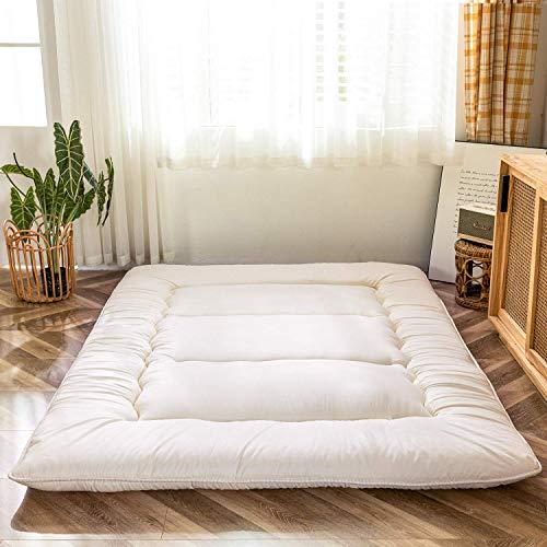 Materasso futon a pavimento giapponese, addensare tatami, materassino pieghevole arrotolabile per ragazzi e ragazze, materasso per dormitorio per bambini, lettini e divani, colore grigio