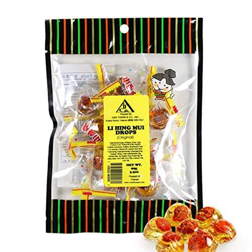 Asia Trans Golden Plum Crack Seed Drops | Hawaiian Favorite | Sweet, Sour, & Salty Dried Asian Plum Hard Candy (3.5 oz)