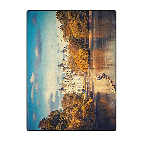 London Bedroom Rugs Patio Rug Rug pad Soft Area Rugs for Girls Room Picturesque ST James Park in UK Baroque Architecture Heritage Medieval Landscape Multicolor 4 x 5 Ft