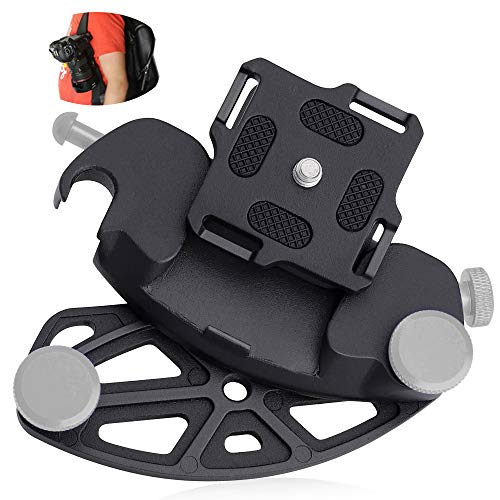 Capture Camera Clip, HICOO Quick Release Clip Aluminum Alloy Quick Release Clip Plate Universal Camera Holder for Travel, Sport, Cycling, Hiking, Field Training
