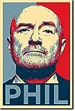 The Pop Culture King Phil Collins Kunstdruck (Obama Hope