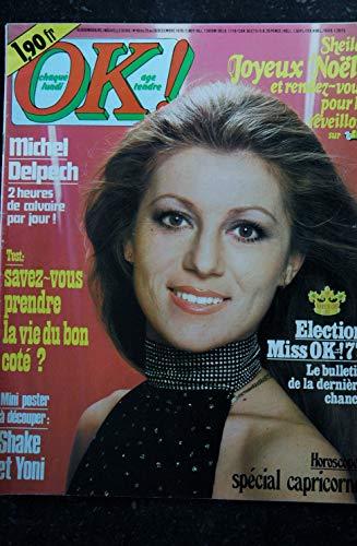 OK ! âge tendre 49 décembre 1976 * SHEILA Michel DELPECH SHAKE & YONI Demis ROUSSOS