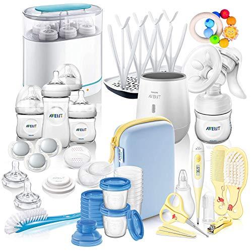 Philips Avent Natural Mega-Set IV All-in-One Kit de démarrage d'allaitement et de soin avec de nombreux accessoires