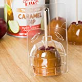 Decony 20 pc. Clear Large Candied Apple Containers Boxes - Plus 20 Bamboo Candy and Caramel Apple Sticks Wood Skewer- 20 Sets- Great for Standard and Large Size Apples