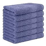Yoofoss Set di 6 Asciugamani per Gli Ospiti 100% Cotone Asciugamani Viso Asciugamano da Bagno Ultramorbidi Strofinacci Canovaccio da Cucina 33X50 cm Viola