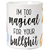 Ceramic Unicorn Coffee Mug with Funny Slogan (16 oz)