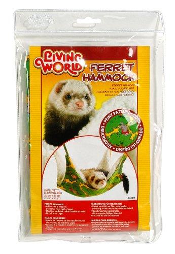 Living World Hängematte für Frettchen, grün mit Druckmotiv